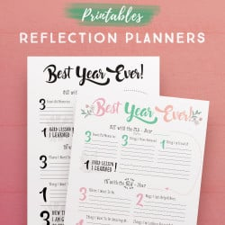 Self-Reflection Planner Printables