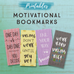 Motivational Printable Bookmarks