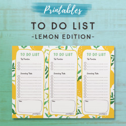 To Do List Printable - Lemon Edition
