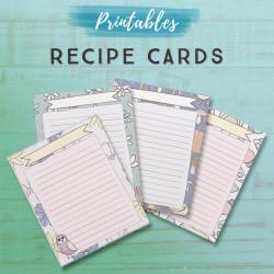Recipe Card Printables