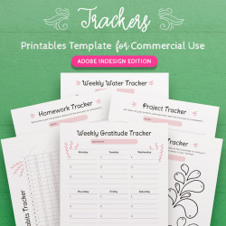 Tracker Printables InDesign Template for Commercial Use