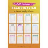 2019 Calendar: Scandinavian Design