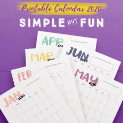 2020 Calendar: Simple But Fun