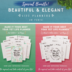 Make It Your Best Year Yet Life Planner 2.0 (Bundle 60 Pages)