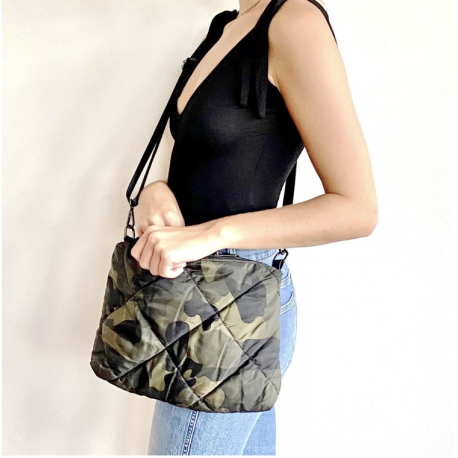Quilted Crossbody - Camo