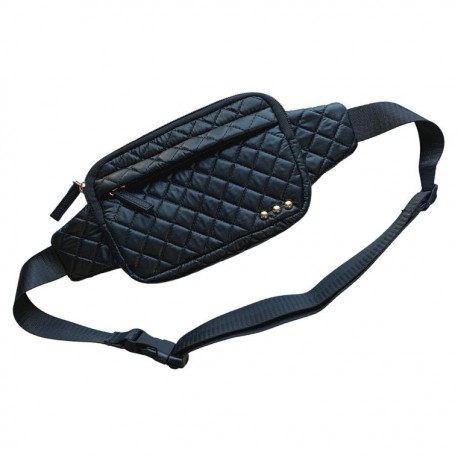 Black Quilted Waist Bag