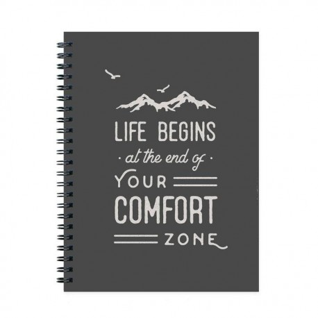 Life Begins At The End Of Your Comfort Journal