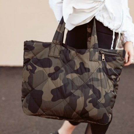 Quilted Tote - Camo