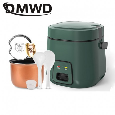 DMWD 1.2L Mini Electric Rice Cooker 2 Layers Heating Food Steamer Multifunction Meal Cooking Pot 1-2 People Lunch Box EU US Plug
