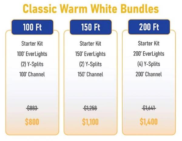 Everlights Classic Warm White LED bundles