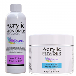 4oz Monomer and 4oz Clear Powder