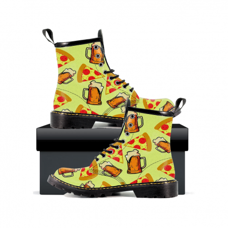 Beer And Pizza - Mens Leather Boots