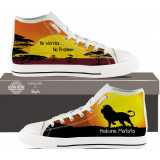 Hakuna Matata Sunset Lion Hightop Sneakers for Women by Living Life with Style