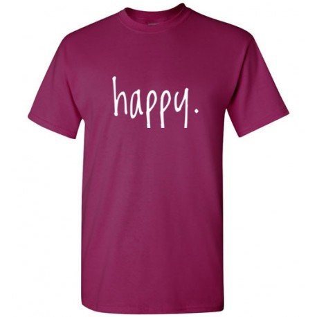 Step In To Happy Tee Shirt by Living Life in Style shown in berry
