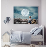 """Never Stop Looking Up"" Canvas Painting Wall Decor"
