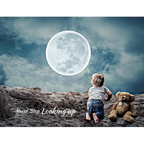 Looking Up Boy Canvas Art