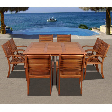 Patio Dining Sets - The Arizona Square Dining Table for 8