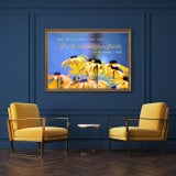 Raise Your Words Not Your Voice - Rumi Quote Canvas Painting