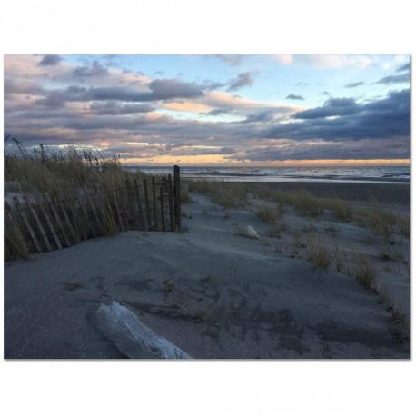 Sand and Sea at Dusk