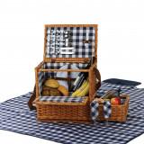 Saratoga Wicker Picnic Basket Set with Blanket