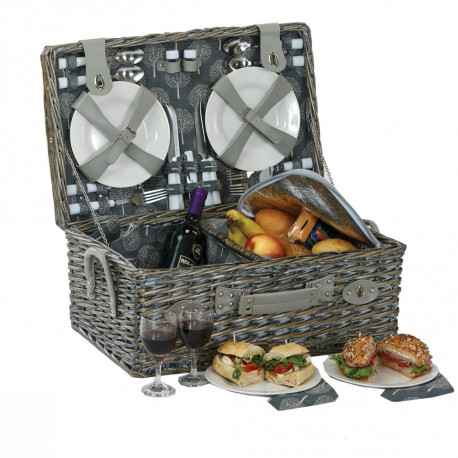 Wicker Picnic Basket Set Collection: The Nantucket