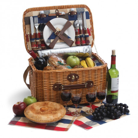Wicker Picnic Basket Set Collection: The Rustica