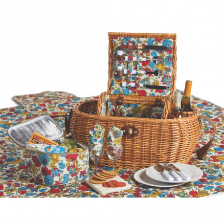 Wicker Picnic Basket Set with Blanket