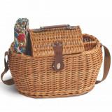 Wicker Picnic Basket Set with Blanket