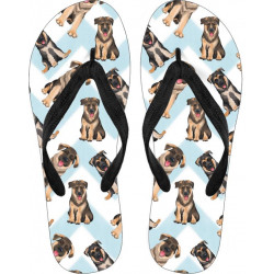 German Shepherd Flip Flops by Living Life with Style