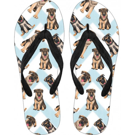 German Shepherd Flip Flops