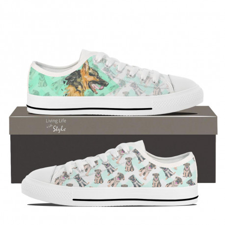 German Shepherd Lowtop Sneakers for Women by Living Life with Style