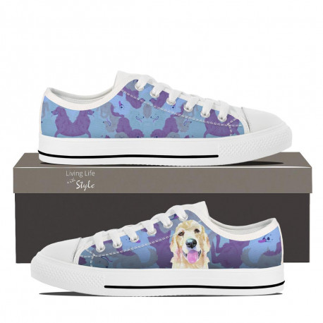Golden Retriever Lowtop Sneakers for Women