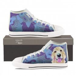 Golden Retriever Hightop Sneaker for Men