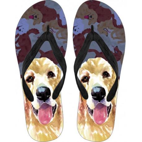 Golden Retriever Flip Flops