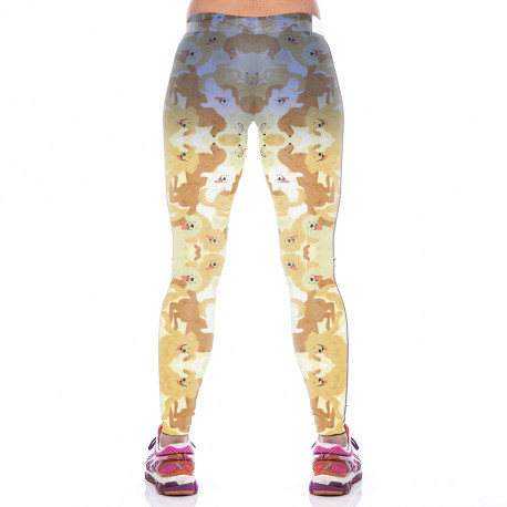 Golden Retriever Leggings for Women-back view