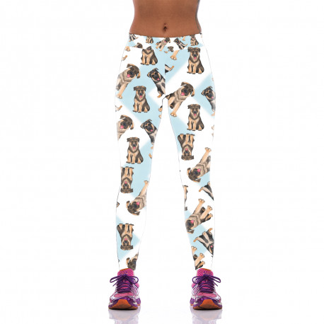 German Shepherd Leggings for Women-front view, Living Life with Style