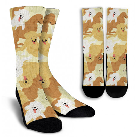 Golden Retriever Crew Socks
