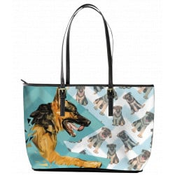 German Shepherd Leather Tote Bag by Living Life with Style