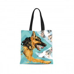 German Shepherd Canvas Tote Bag by Living with Style
