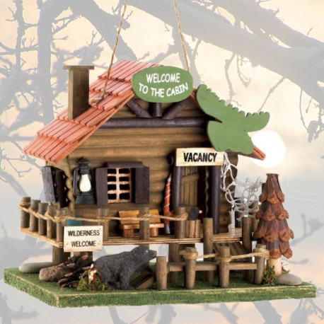Bear Lodge Bird House -birdhouses by living life with style