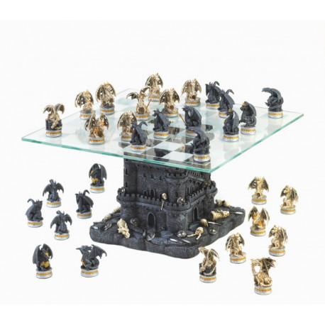 Dragon Themed Chess Set The Castle Tower Living Life with Style