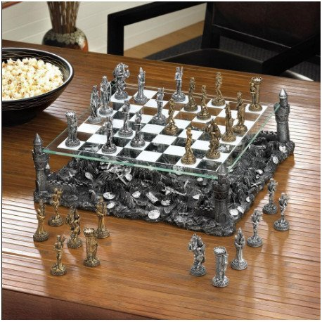 Medieval Themed Chess Sets  Dragons and Bones