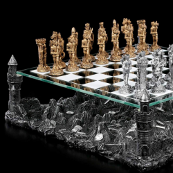 Medieval Times Themed Chess Set  Four Towers of Averly by Living Life with Style