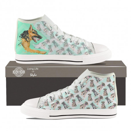 German Shepherd High Top Sneakers for Men by Living Life with Style