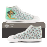 German Shepherd High Top Sneakers for Women by Living Life with Style