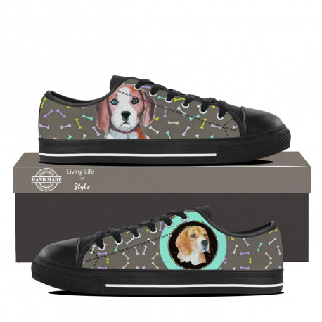 Beagle Lowtop Sneaker for Kids by Living Life with Style