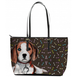 Beagle Leather Tote Bag (Large) by Living Life with Style