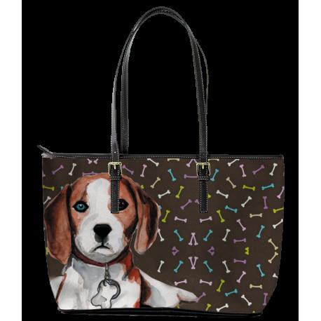 Beagle Leather Tote Bag