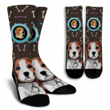 Beagle Crew Socks by Living Live with Style