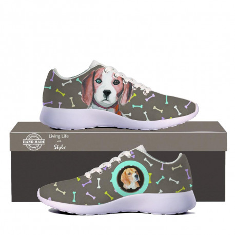 Beagle Canvas Sneakers for Women by Living Life with Style